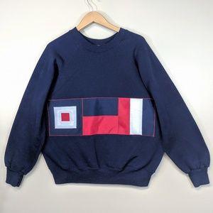 Amazing 80's Patchwork Design Fleece